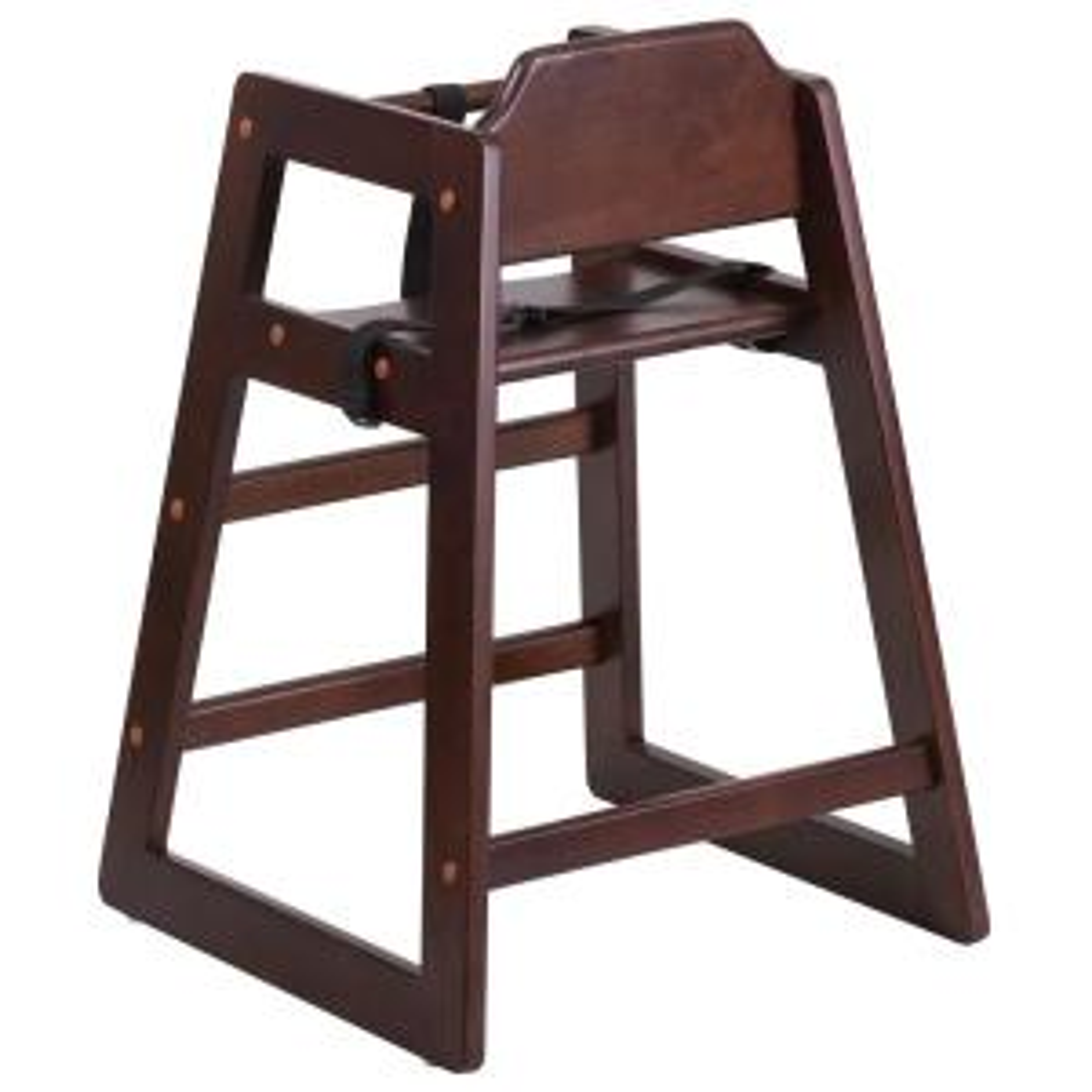 Hercules Series Stackable Walnut Baby High Chair