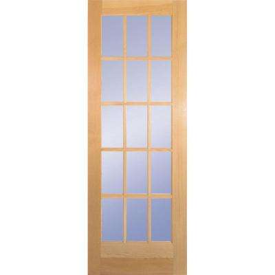 32 In. Clear Pine 15 Lite French Interior Door Slab