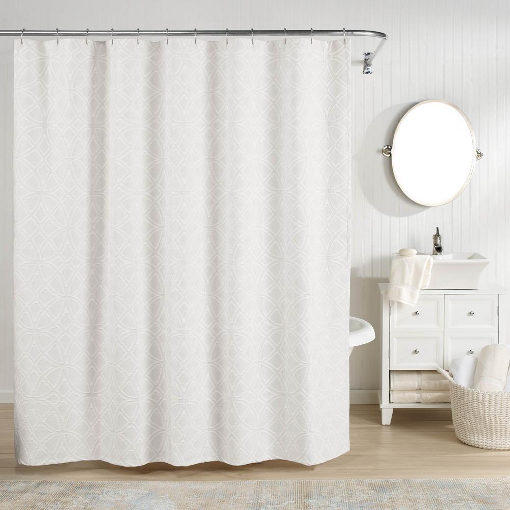 Bogart Shower Curtain White