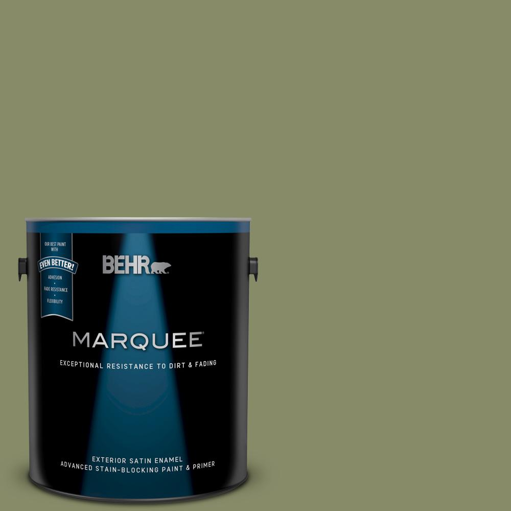 5b1c94448bd BEHR MARQUEE 1 gal.  S360-5 Yogi Satin Enamel Exterior Paint and Primer