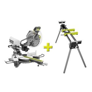 15 Amp Corded 10 in. Sliding Miter Saw with Stand