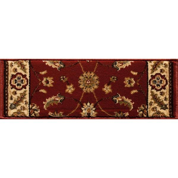 Kazmir Red 9 in. x 26 in. Stair Tread Cover