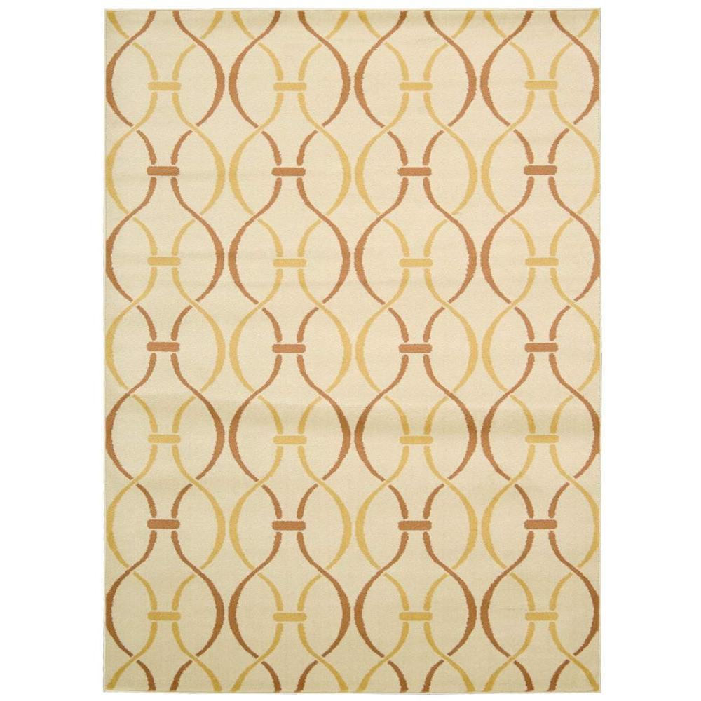 Nourison Overstock Nova Ivory Yellow 7 Ft 10 In X 10 Ft