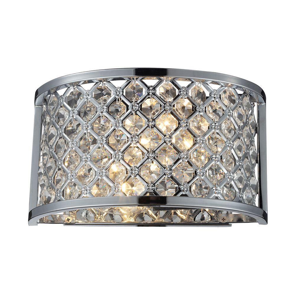 Elk Lighting Genevieve: Titan Lighting Genevieve 2-Light Polished Chrome Sconce-TN
