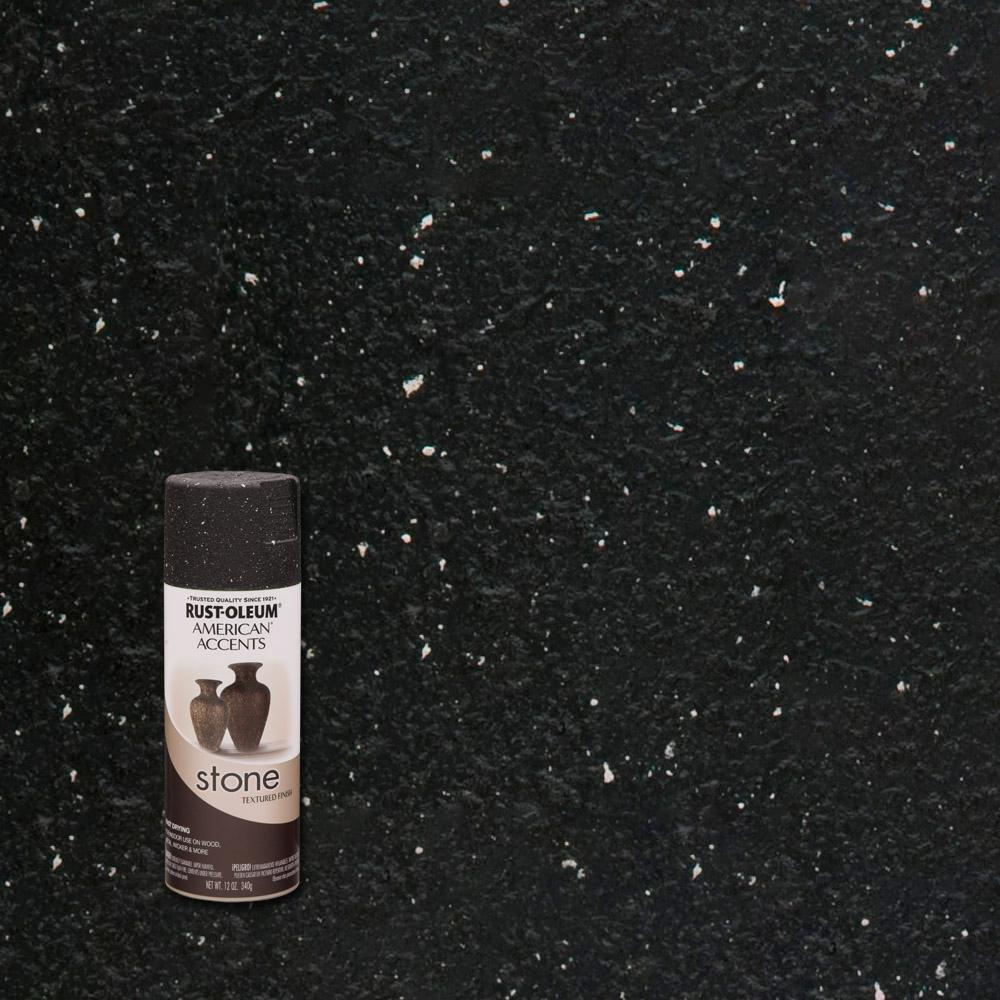 Rust Oleum American Accents 12 Oz Stone Creations Black