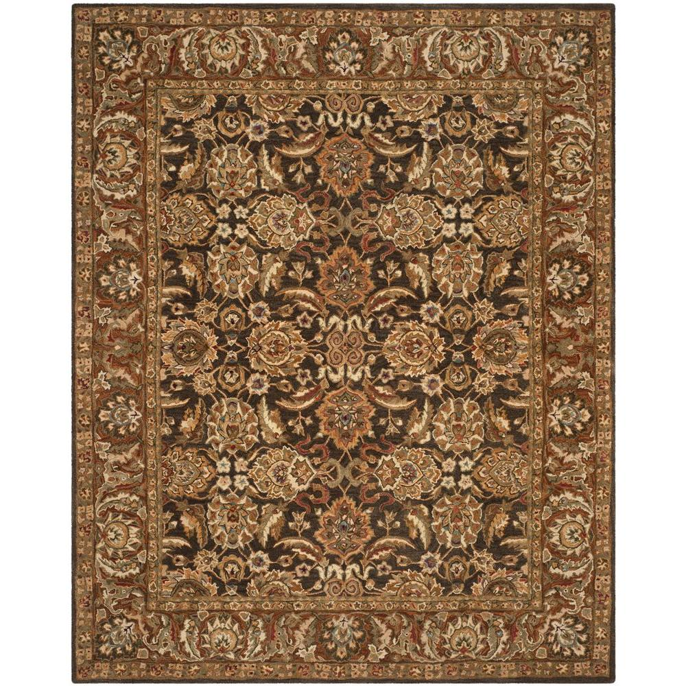 Anatolia Dark Brown/Gold 9 ft. 6 in. x 13 ft. 6