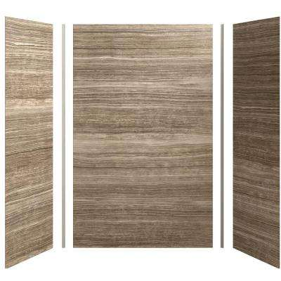 Choreograph 60in. X 32 in. x 96 in. 5-Piece Shower Wall Surround in VeinCut Sandbar for 96 in. Showers