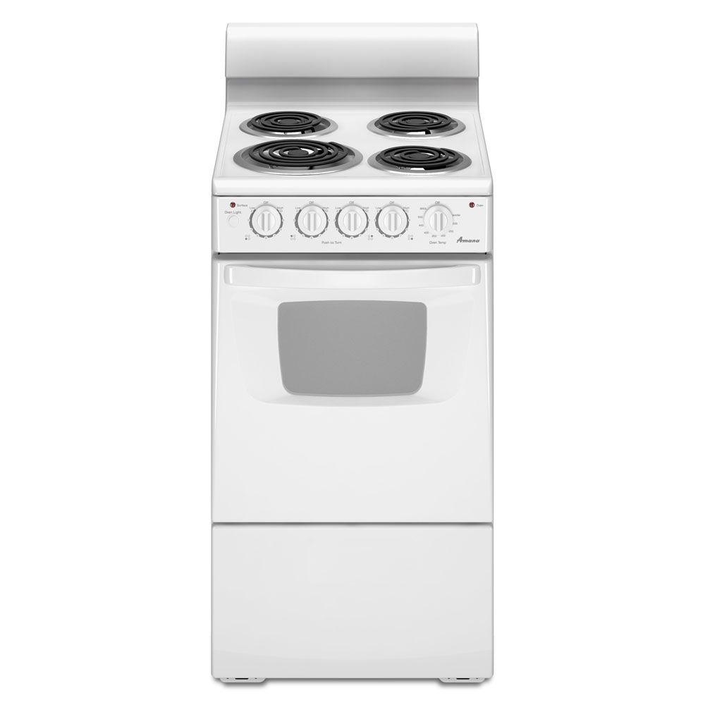 Amana 2.6 cu. ft. Electric Range in White-AEP222VAW - The Home Depot