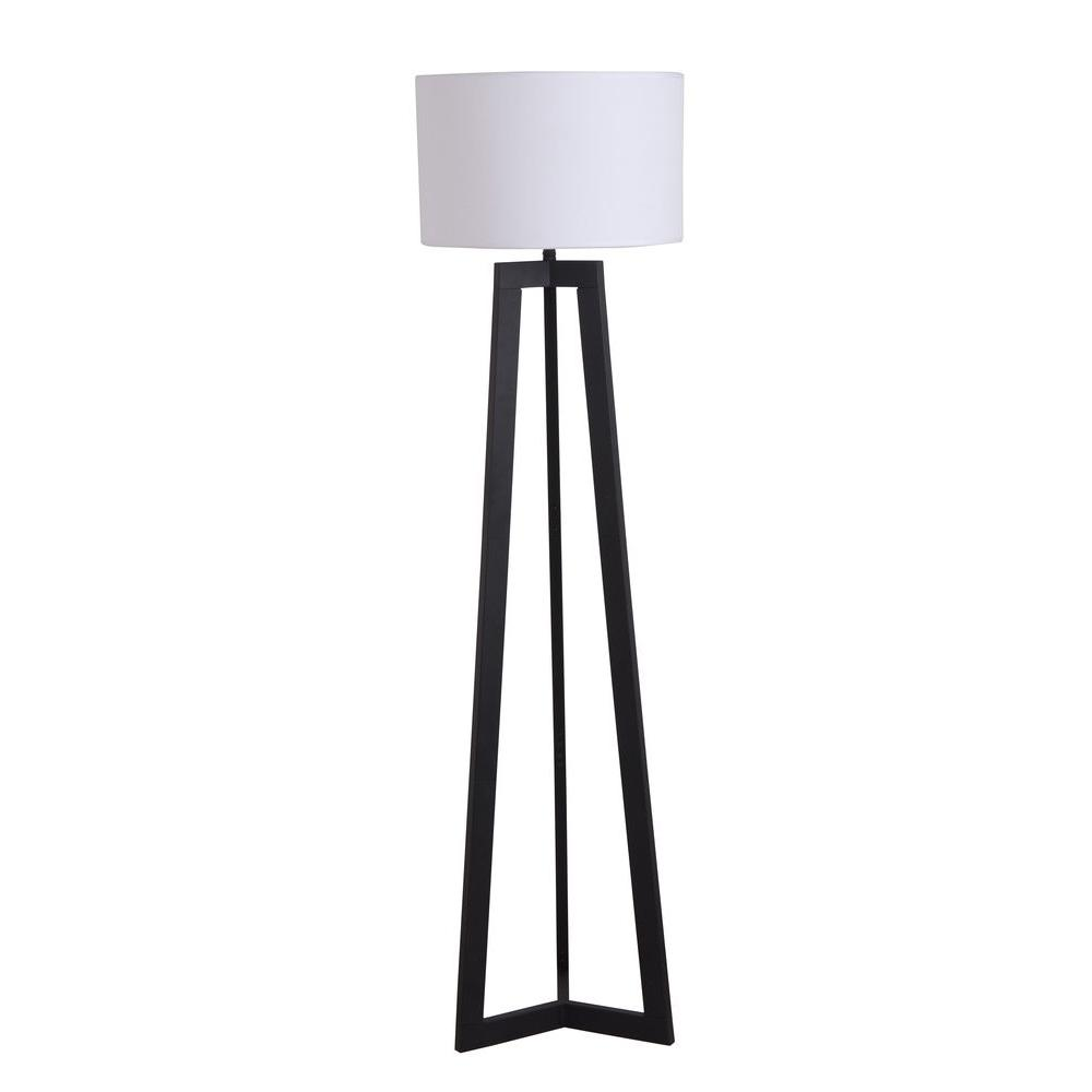 Alsy 58 in black tripod floor lamp with shade 19226 001 the black tripod floor lamp with shade aloadofball Choice Image
