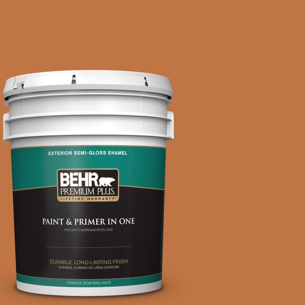 5 gal. #PPU3-02 Marmalade Glaze Semi-Gloss Enamel Exterior Paint
