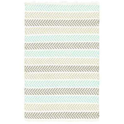 Altair Turquoise 5 ft. x 7 ft. 9 in. Reversible Area Rug