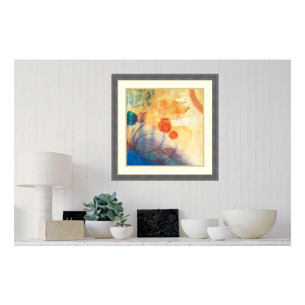 26.25 in. W x 26.25 in. H Tie Dye II by PI Studio Printed Framed Wall Art