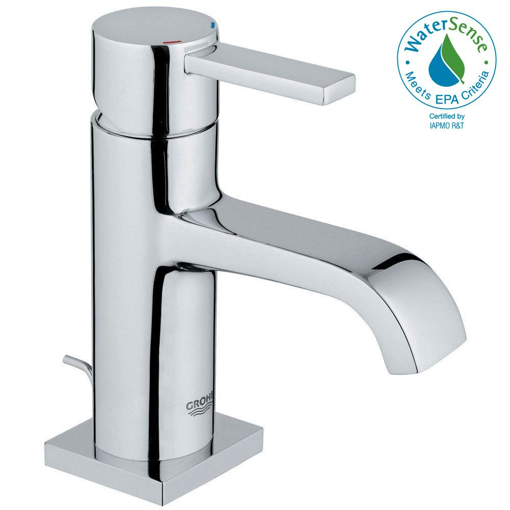 Allure Single Hole Single Handle Low-Arc Bathroom Faucet in StarLight Chrome