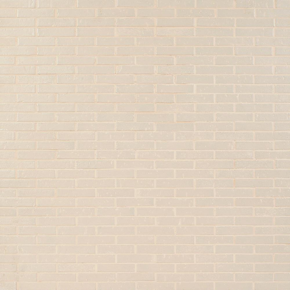 Ivy Hill Tile Queen Brick Beige 10.6 in. x 12.75 in. 12mm Matte Clay Mosaic Wall Tile (0.94 sq. ft.)