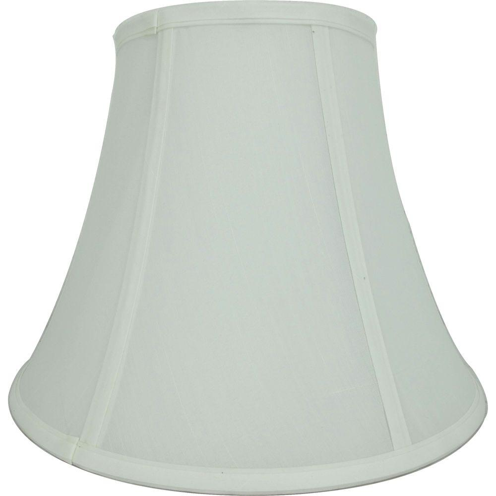 Lamp shades lamps the home depot mix and match ivory and white round bell table lamp shade greentooth Choice Image