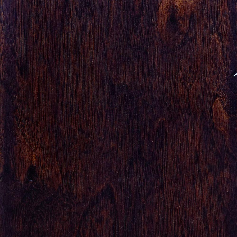 Home Legend Hand Scraped Walnut Java Click Lock Hardwood Flooring - 5 in. x 7 in. Take Home Sample-DISCONTINUED