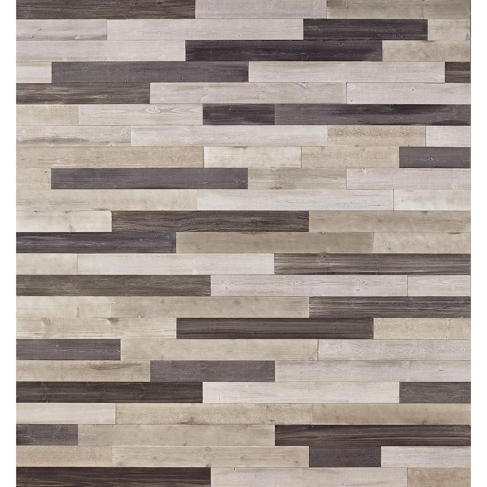 Nuvelle DecoWall Gray In T X In W X Varying Length Peel - Where to buy peel and stick wood flooring