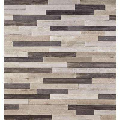DecoWall Gray 1/4 in. T x 5 in. W x Varying Length Peel & Stick Solid Hardwood Flooring Wall Plank (13 sq. ft. / case)