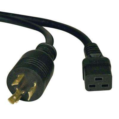 10 ft. C19 to L6-20P Heavy-Duty Power Cable, Black