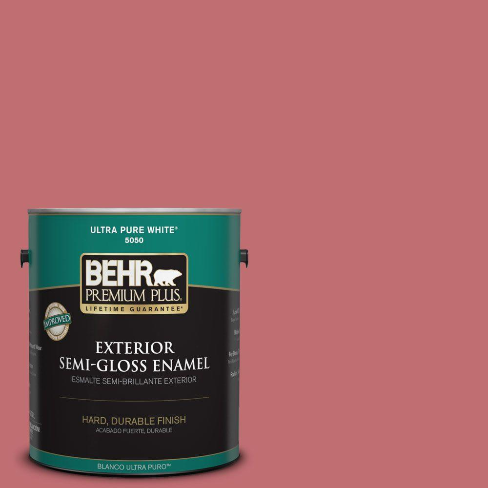 1-gal. #HDC-SP14-8 Art House Pink Semi-Gloss Enamel Exterior Paint