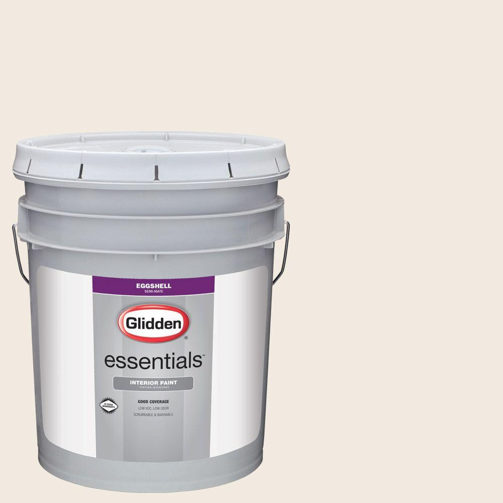 Glidden Essentials 5 Gal. #HDGWN03 Antique White Eggshell Interior Paint