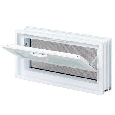 15-1/2 in. x 7-3/4 in. x 3-1/8 in. Hopper Vent for Glass Block Windows