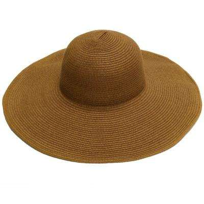 Wide Brim Tan Ladies Hat