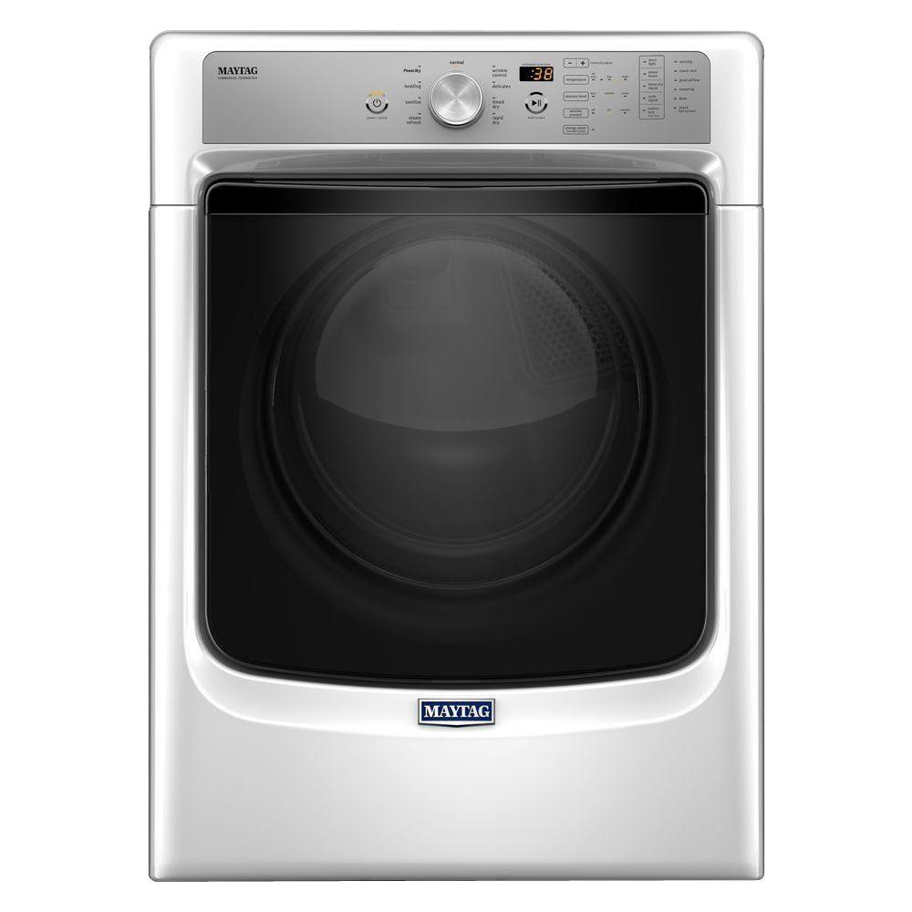 Maytag 74 Cu Ft 120 Volt White Gas Vented Dryer With Steam And Washer Wiring Diagram Further