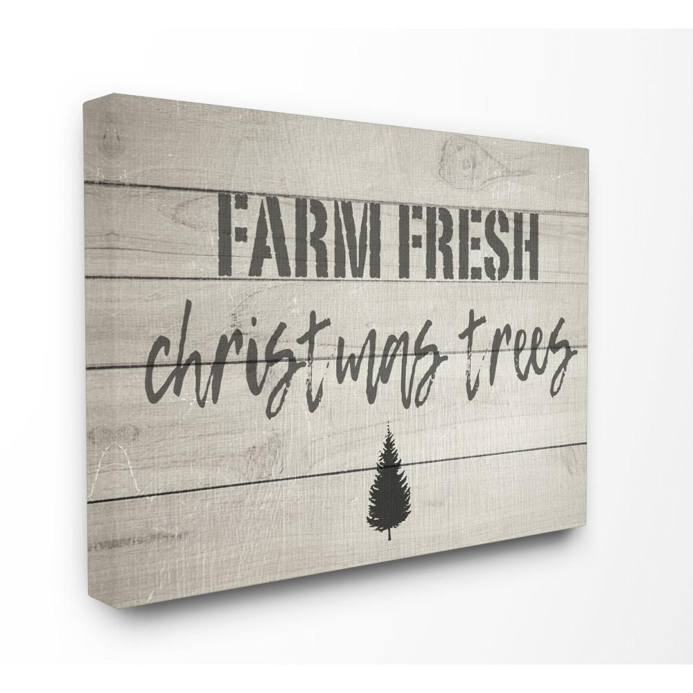 Fresh Cut Christmas Trees Sign.Stupell Industries 24 In X 30 In Farm Fresh Christmas Trees Vintage Sign By Daphne Polselli Printed Canvas Wall Art