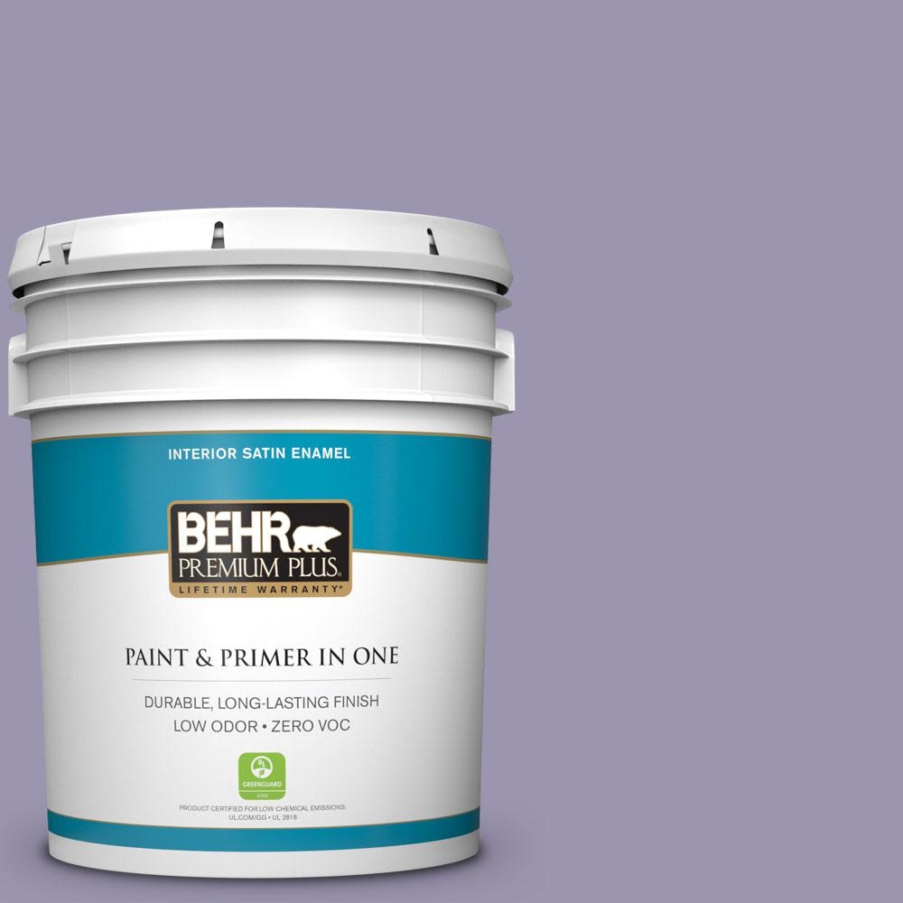 BEHR Premium Plus 5-gal. #S570-4 Night Music Satin Enamel Interior Paint