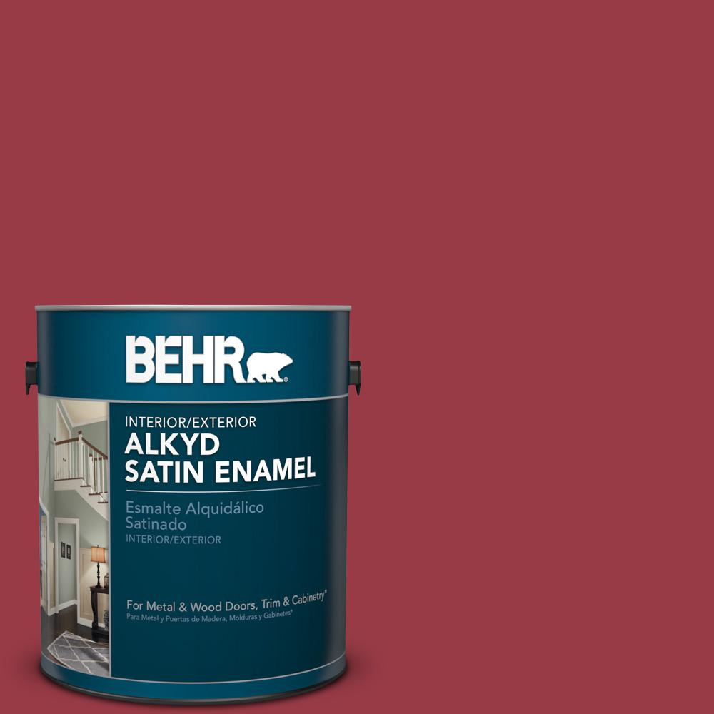 1 gal. #HDC-CL-01 Timeless Ruby Satin Enamel Alkyd Interior/Exterior Paint