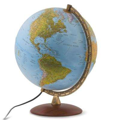 Lugano 12 in. Illuminated Blue Ocean Globe