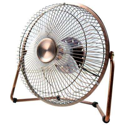 8 in. USB Desk Fan in Bronze