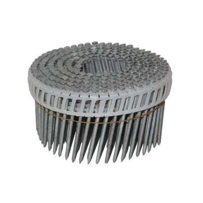 7d 2-1/4 in. 15 Inserted Plastic Coil, Full Round Head, Ring-Shank Nail (600-Pack)
