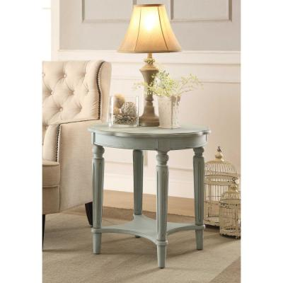 Amelia Antique Green Fordon End Table