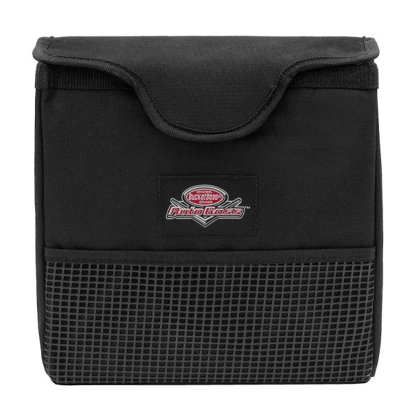 Auto Boss Car Interior Trash Can with Front Mesh Pocket and Adjustable Straps