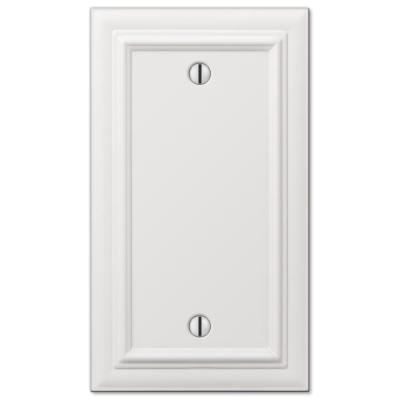 Continental 1 Gang Blank Metal Wall Plate - White