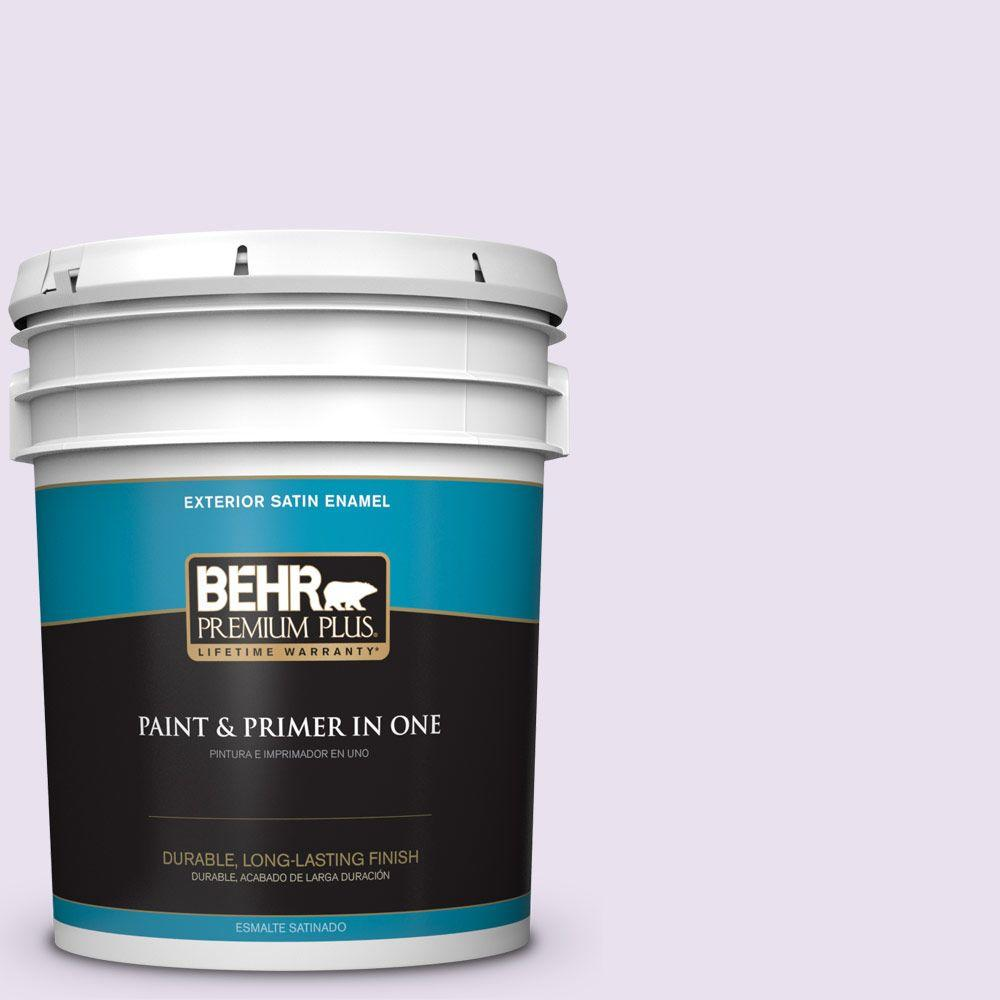 BEHR Premium Plus 5-gal. #660A-1 Muted Melody Satin Enamel Exterior Paint