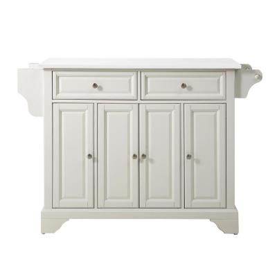 Crosley Furniture Lafayette White Full Size Kitchen Island Cart With Granite Top Kf30005bwh The Home Depot