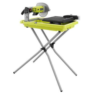 7 in. 1-3/4 HP Overhead Wet Tile Saw with Stand