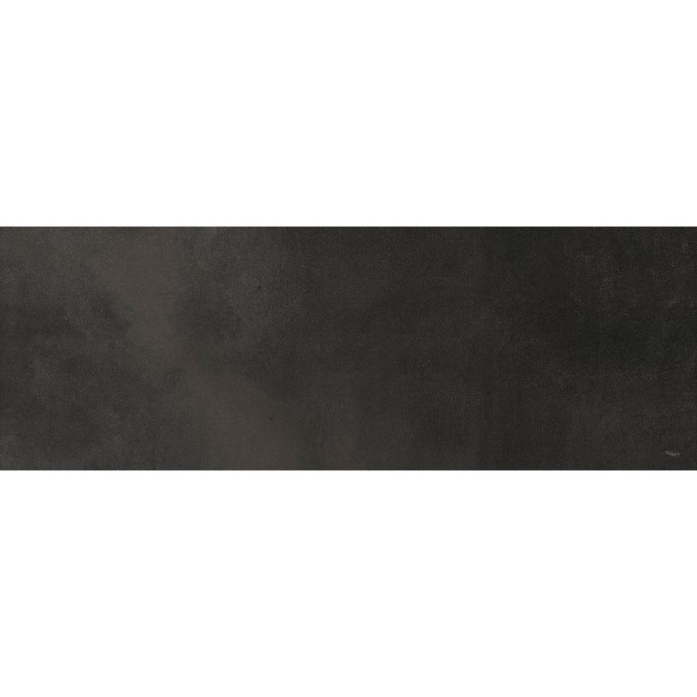 EMS Cosmopolitan Charcoal 3 in. x 13 in. Single Bullnose Porcelain Floor and Wall Tile, Glazed