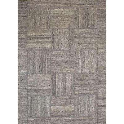 Patchwork Gray/Light Silver 8 ft. x 10 ft. Indoor Area Rug