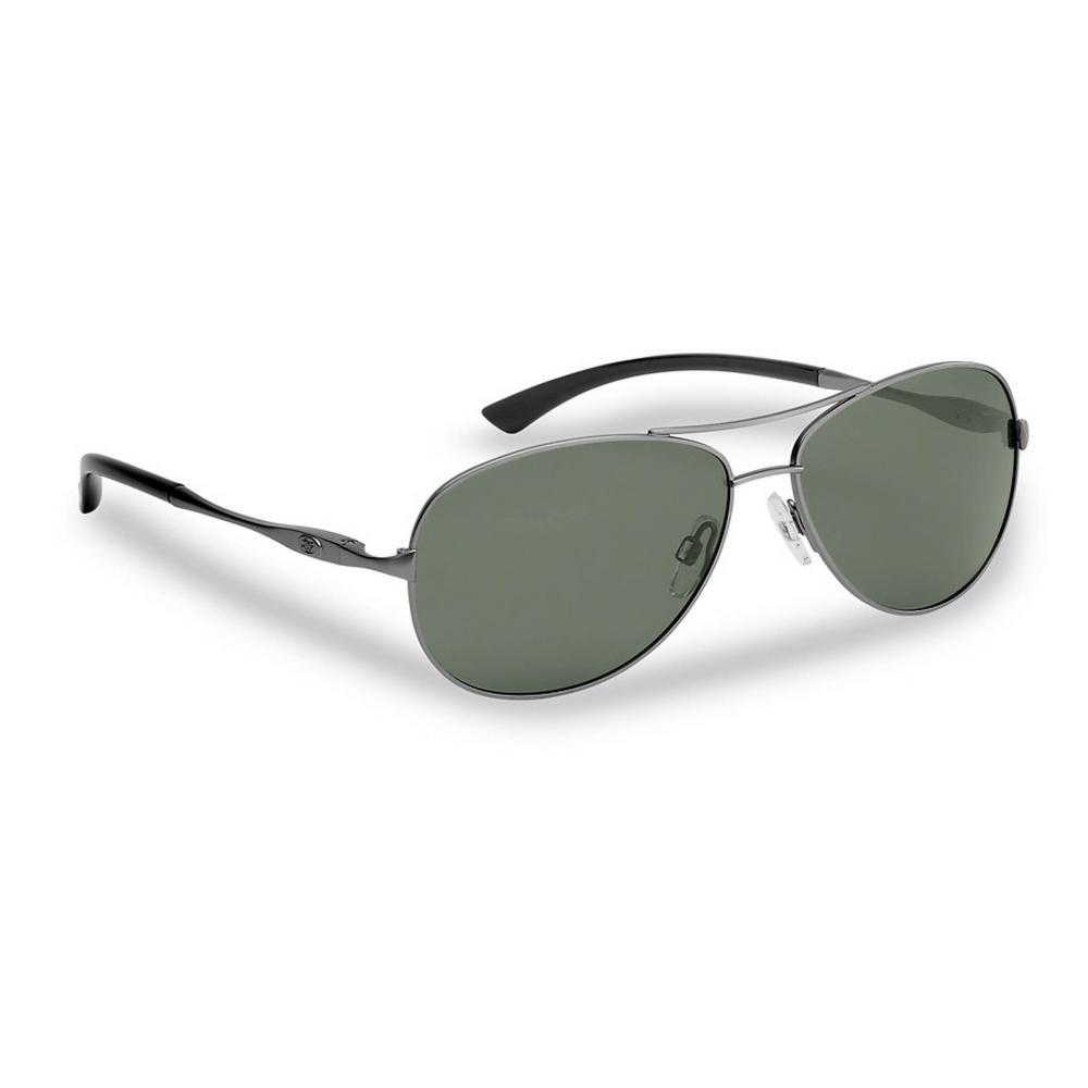 Madeira Polarized Sunglasses Gunmetal Frame with Smoke Lens