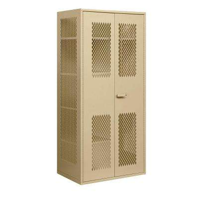 7155 Series 36 in. W x 78 in. H x 24 in. D Military Combination Storage Cabinet in Tan