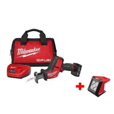 M12 FUEL 12-Volt Lithium-Ion Cordless HACKZALL Reciprocating Saw Kit Free M12 Compact Flood Light (Tool-Only)
