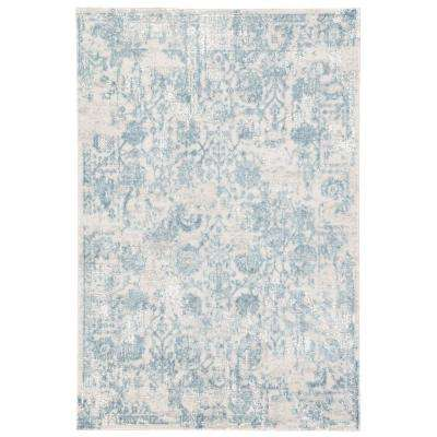 Cirque Silver 2 ft. x 3 ft. Floral Rectangle Area Rug