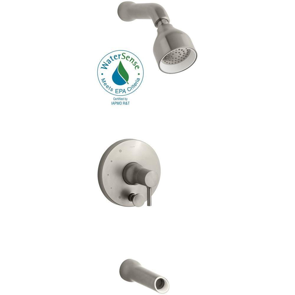KOHLER Toobi Bath and Shower Trim in Vibrant Brushed Nickel