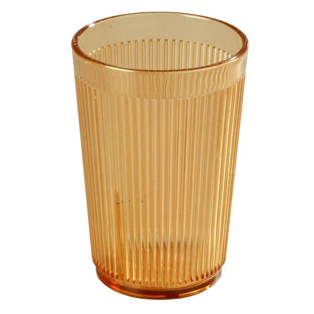 20 oz. SAN Plastic Tumbler in Amber (Case of 48)