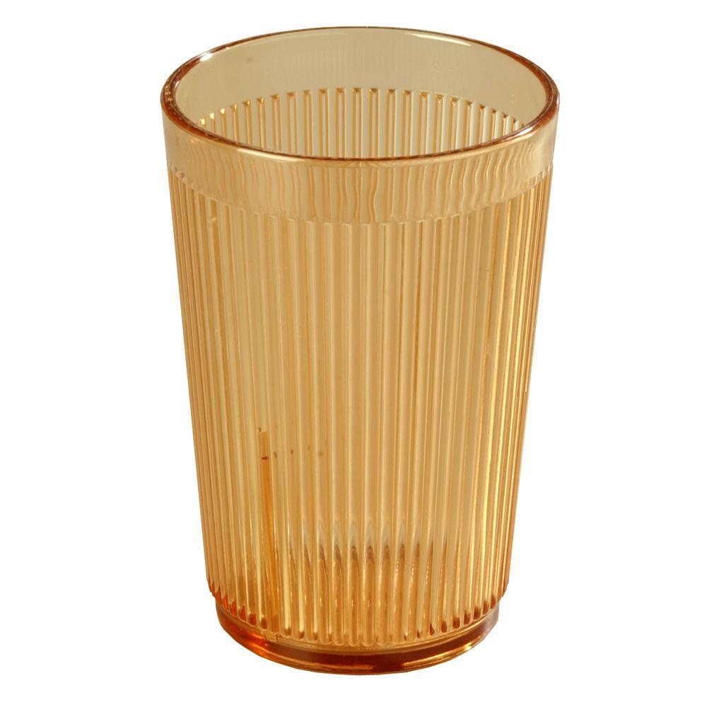Carlisle 20 oz. SAN Plastic Tumbler in Amber (Case of 48) by Carlisle
