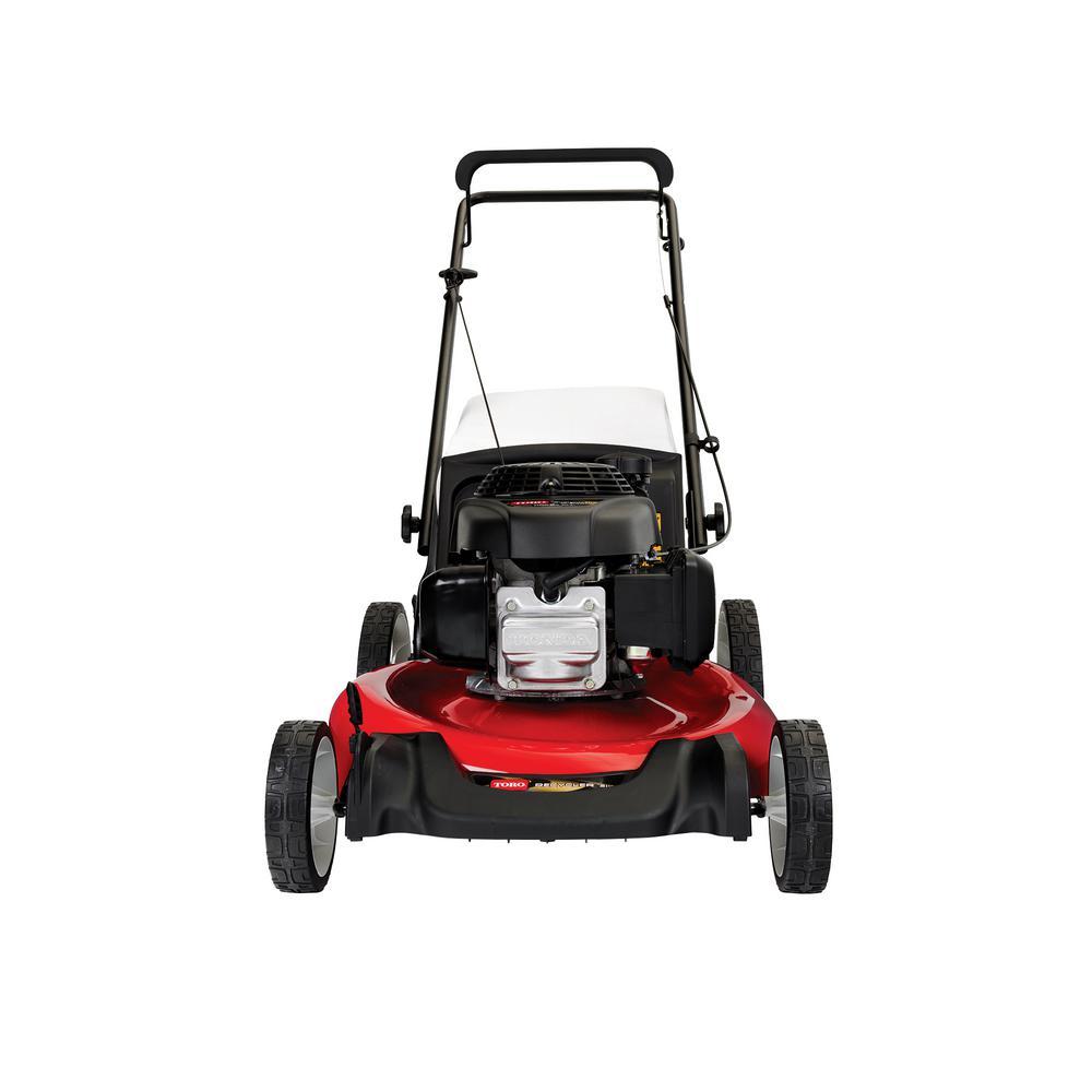 Toro Recycler 21 In 160 Cc Honda Engine High Wheel Gas Walk Behind Push Lawn Mower 21328 The Home Depot